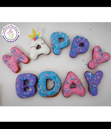 Birthday Themed Donuts - Unicorn