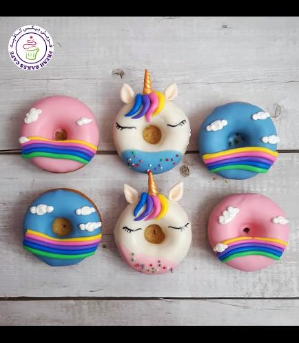 Unicorn Themed Donuts - Unicorn & Rainbow