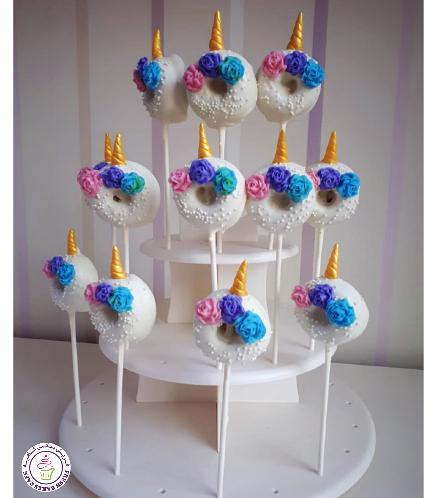 Unicorn Themed Donut Pops - Flowers 01