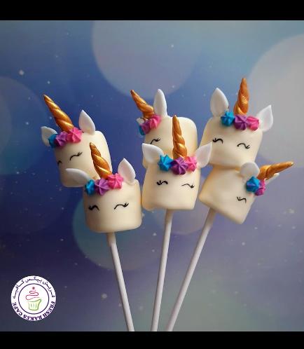 Unicorn Themed Marshmallow Pops - Flowers 01