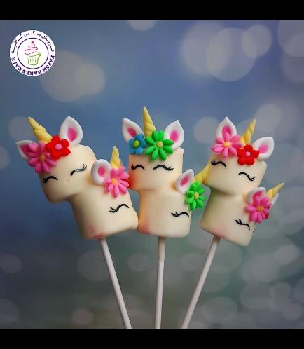 Unicorn Themed Marshmallow Pops - Flowers 02