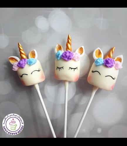 Unicorn Themed Marshmallow Pops - Flowers 04