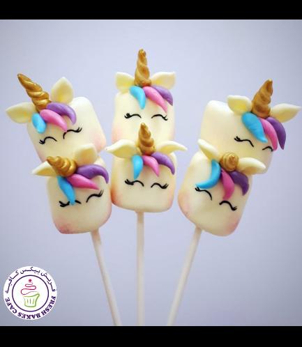 Unicorn Themed Marshmallow Pops - Hair 03