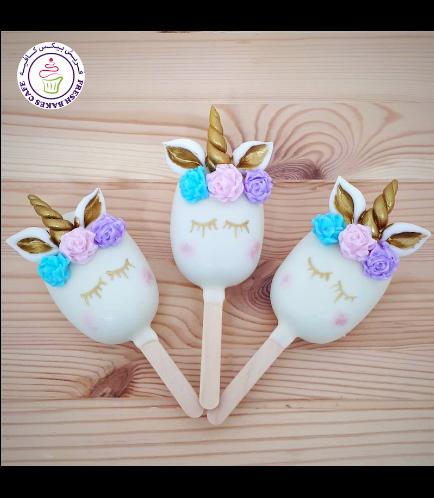 Unicorn Themed Popsicakes - Flowers 12