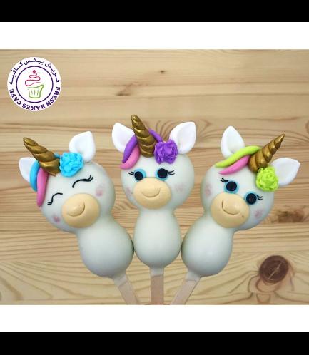 Unicorn Themed Popsicakes - Hair & Flowers