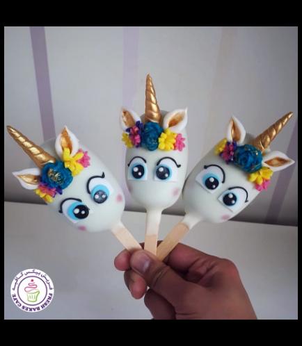 Unicorn Themed Popsicakes 11