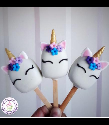 Unicorn Themed Popsicakes 12