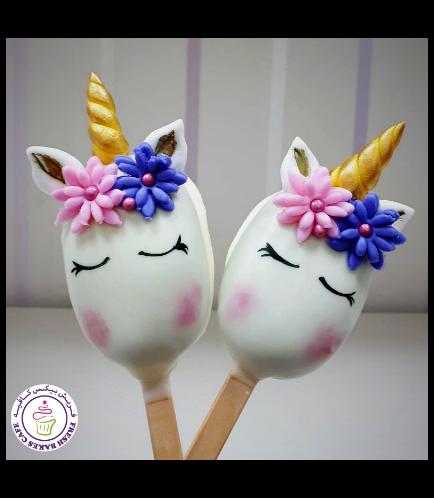 Unicorn Themed Popsicakes 13