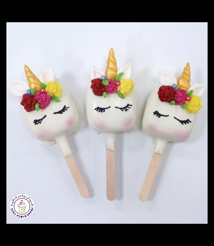 Unicorn Themed Popsicakes 10