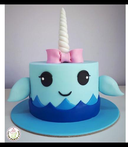 Whale Themed Cake - Unicorn Whale