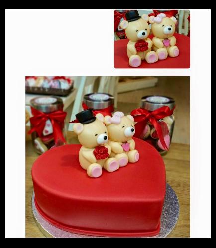 Cake - Heart Cake - Bears 3D Cake Toppers 03