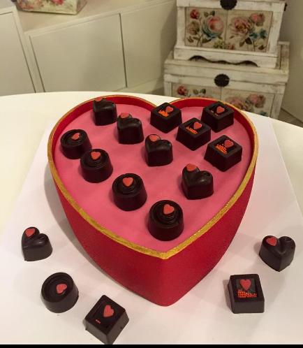 Cake - Heart Cake - Chocolates