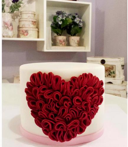Cake - Heart - Ruffles 02