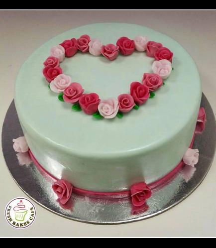 Cake - Heart - Roses 02