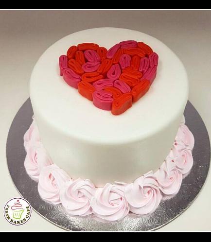 Cake - Heart - Ruffles 01