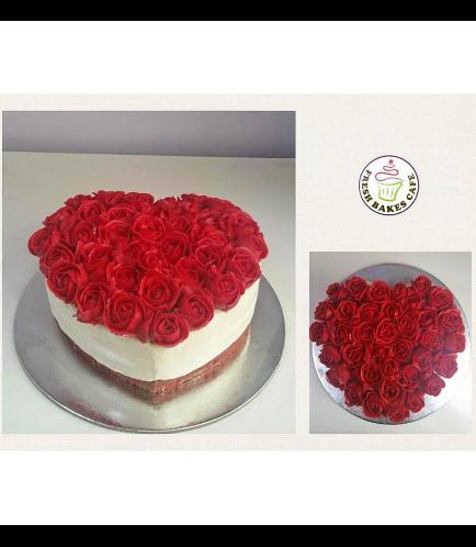 Cake - Heart Cake - Roses 06