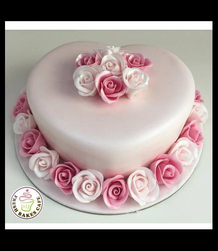 Cake - Heart Cake - Roses 07