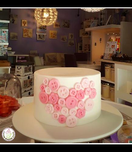 Cake - Heart - Buttons
