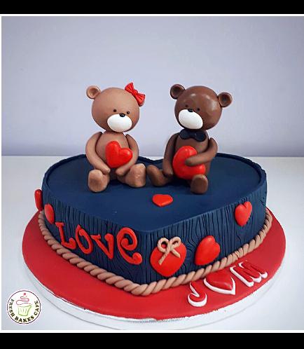 Cake - Heart Cake - Bears 3D Cake Toppers 05