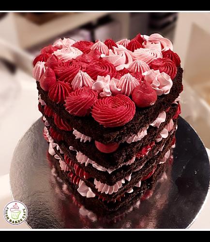 Cake - Heart Cake - Buttercream