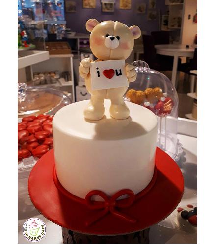 Cake - Bear - 3D Cake Topper - Beige 01