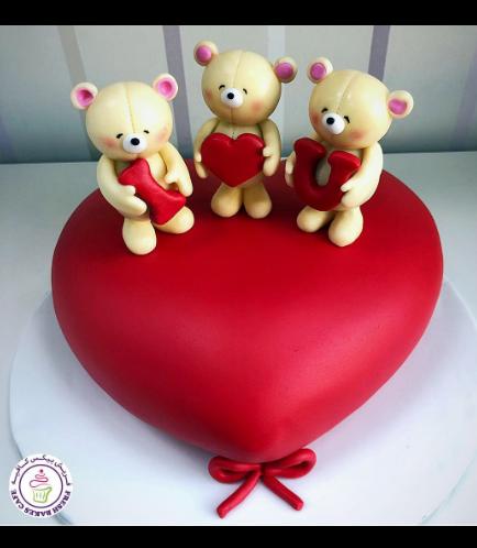 Cake - Heart Cake - Bears 3D Cake Toppers 04