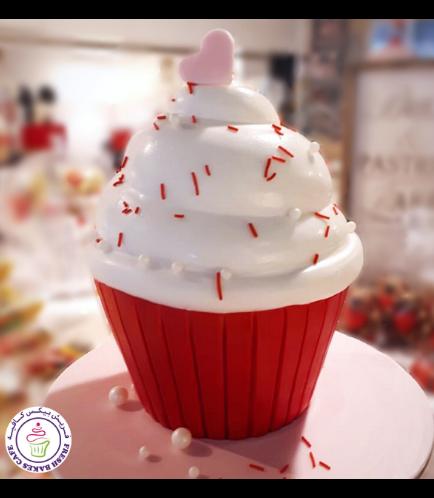 Valentine's Themed Cake - Mega Cupcake 02