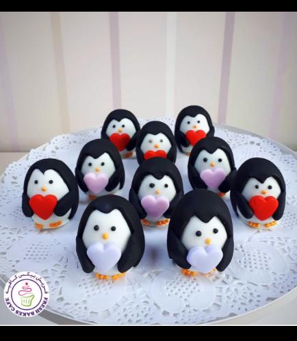 Cake Pops w/o Sticks - Penguins