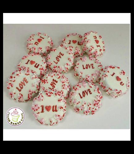 Valentine's Themed Chocolate Covered Oreos - Love