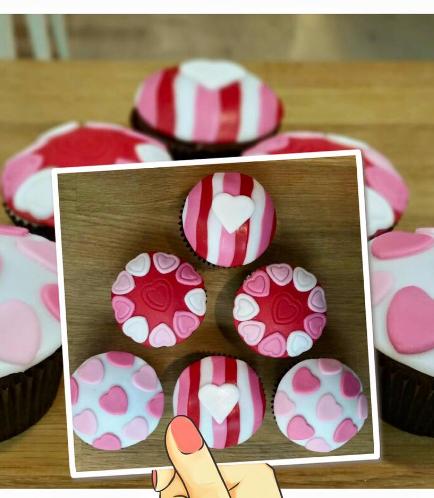 Cupcakes - Hearts 01