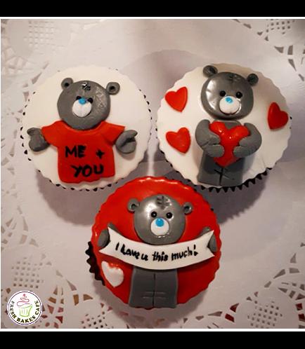 Cupcakes - Bears - Grey 01
