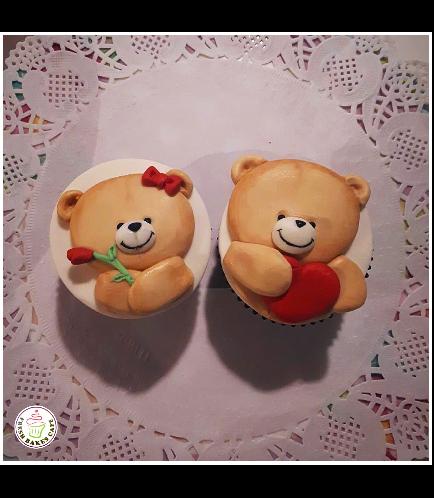 Cupcakes - Bears - Beige 01