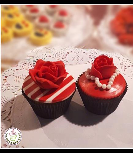 Cupcakes - Roses 01