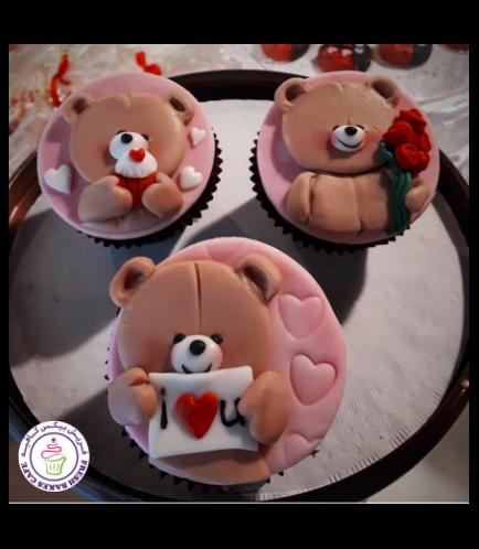Cupcakes - Bears - Beige 02
