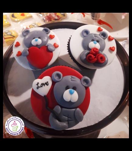 Cupcakes - Bears - Grey 02