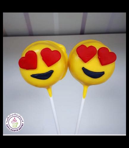 Valentine's Themed Donut Pops - Emojis 01