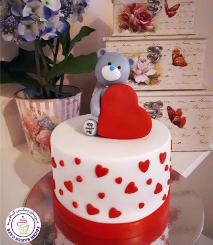 Cake - Bear - 3D Cake Topper - Grey