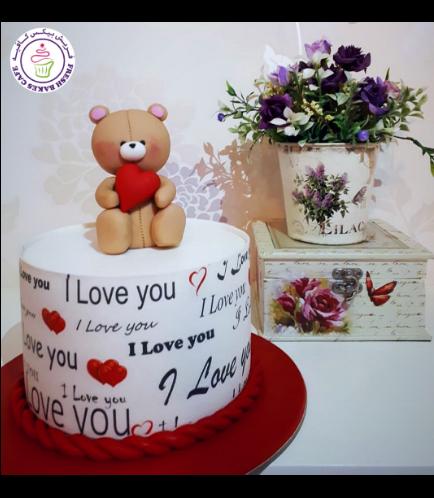 Cake - Bear - 3D Cake Topper - Beige 04a