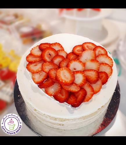Cake - Heart - Strawberries