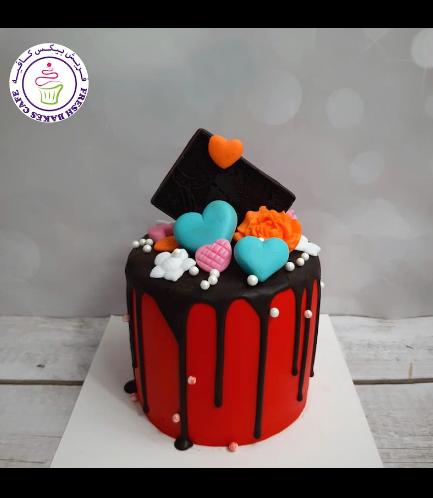 Cake - Valentine's - Red