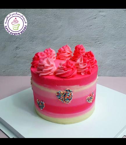 Funfetti Cake with Hearts