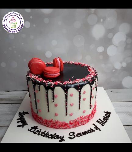 Cake - Funfetti Cake - Heart Sprinkles & Macarons