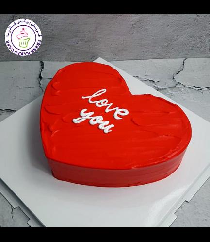 Cake - Heart Cake - Cream - Red