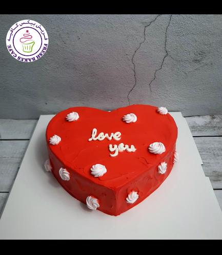 Cake - Heart Shaped - Rose Piping