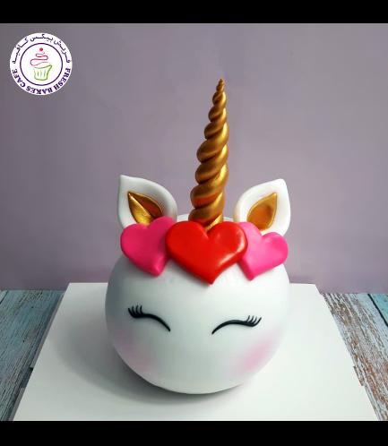 Cake - Unicorn - Round Shaped 01