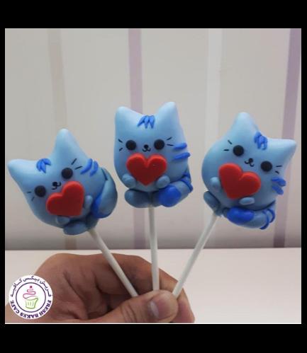 Cat Themed Cake Pops - Valentine's