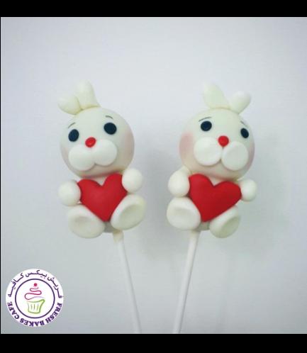Rabbit Themed Cake Pops - Valentine's 01