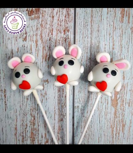 Rabbit Themed Cake Pops - Valentine's 02