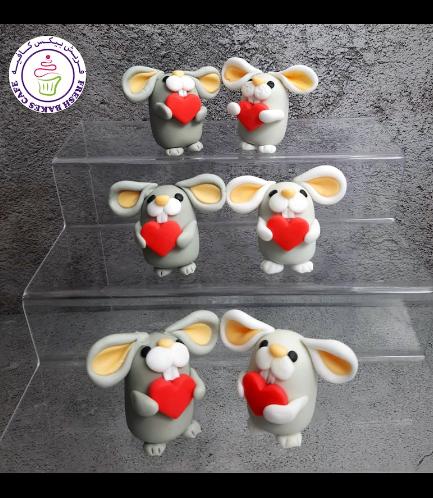 Rabbit Themed Cake Pops w/o Sticks - Valentine's 03