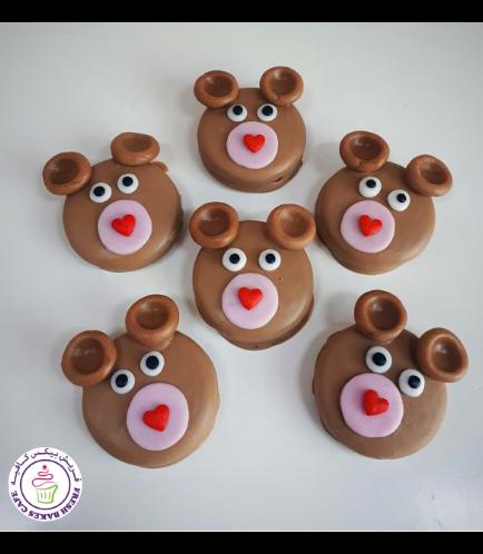 Valentine's Themed Chocolate Covered Oreos - Bears